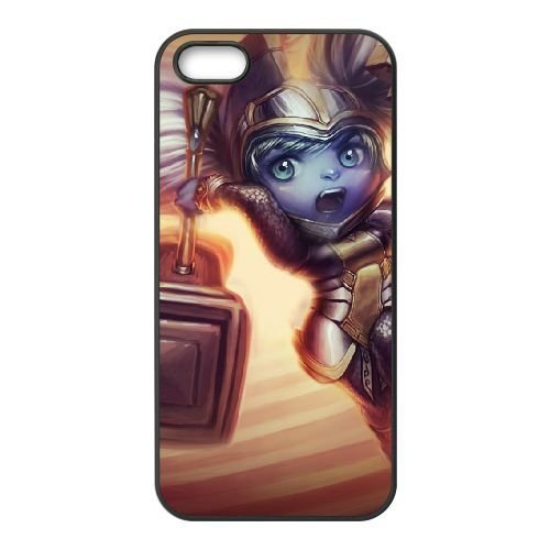 Hey Poppy - iPhone 5 5s Phone Case Cover Black League of Legends Battle Regalia Poppy EUA15967137 Cell Phone Cases
