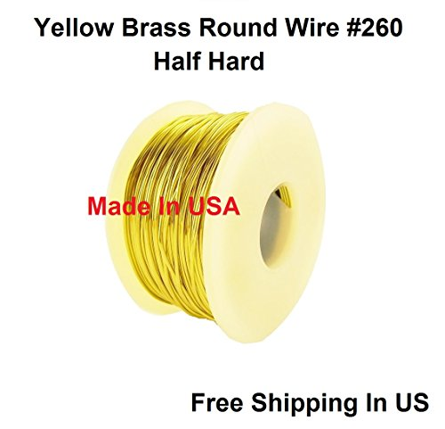 (20 Ga Round Half Hard Yellow Brass Wire (1/4 Lb. - 85 Ft. Spool))