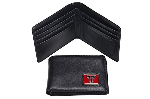 NCAA Texas Tech Red Raiders Men's Leather RFiD Safe Travel Wallet