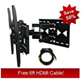 Articulating Tilt Swivel Tv Wall Mount for Samsung LN46C750 LCD HDTV **Free HDMI Cable**