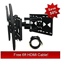 Heavy Duty Swivel Wall Mount for Panasonic TH-50PZ800U **Free Hdmi Cable**