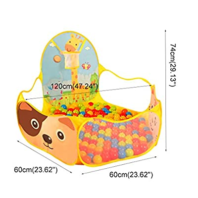 LDAOS Safety Protection Folding Ball Pool Dog Colorful Toddler Baby Portable GG-45I1 Tent Pit Hexagon Polka Dot Play: Home & Kitchen