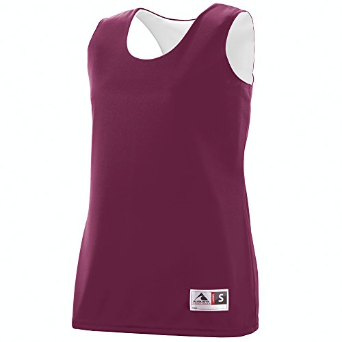 Augusta Sportswear Women's Reversible Wicking Tank 2XL Maroon/White For Sale