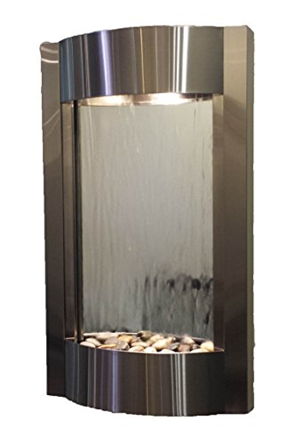 Serene Waters Water Feature with Silver Mirror (Stainless ()