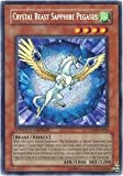 yu gi oh crystal - Yu-Gi-Oh! - Crystal Beast Sapphire Pegasus (CT04-EN002) - 2007 Collectors Tins - Limited Edition - Secret Rare