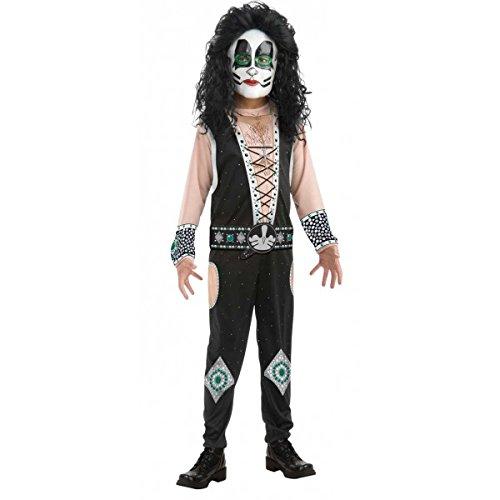 Childs Kiss Catman Peter Criss Rock Star Costume Boys Medium 8-10 -