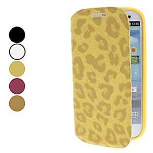 Bkjhkjy Leopard Pattern Case with Stand for Samsung Galaxy S3 I9300 (Assorted Colors) , White