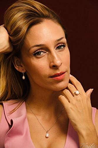 Pendentif Bague et Boucles doreilles en Argent 925 et Perles Naturelles deau Douce Nouveau Design 2020 Femme