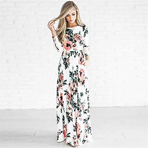 Buy Soledi 2018 Long Maxi Dress Casual Long Sleeve Floral Print