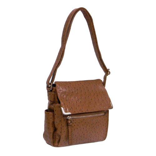 Ostrich Cross Body Bag - Ostrich Crossbody Bag by Bueno,