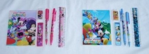 12 Sets of Disney Mickey Mouse & Friends Stationery Set Children Party Favors Bag Filler by Stationery Set
