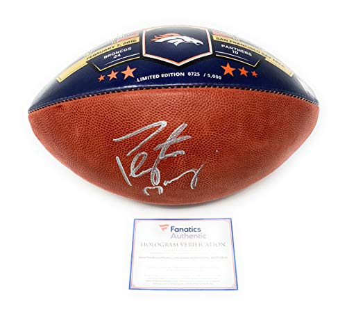 Peyton Football Autograph Manning (Peyton Manning Denver Broncos Signed Autograph Super Bowl 50 Limited Edition Authentic Duke Football Fanatics Authentic Certified)
