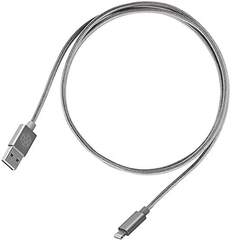 3.3ft Reversible USB-A to to Lightning Cable 1 Meter Apple MFi Certified Nylon Braided and Aluminum Shell
