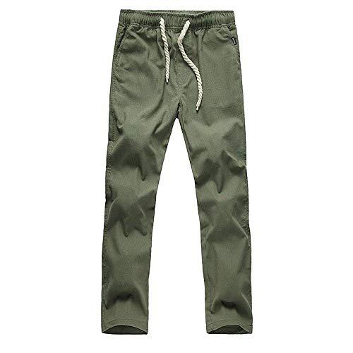 De Décontractés Lin Pour Hommes Cordon Jogging Pantalons Grün À Coulissant Amayay En Style Simple Unis wqUfFn1A