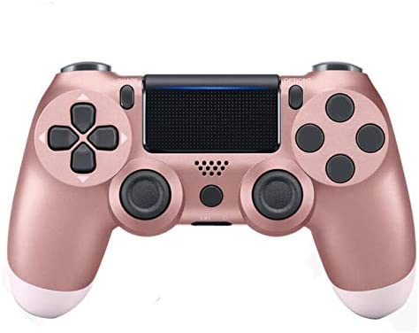 Alician Wireless PS4 Controller Bluetooth Gamepad Joystick for 4 Game Console PC Steam Rose Gold Electronic Accessories