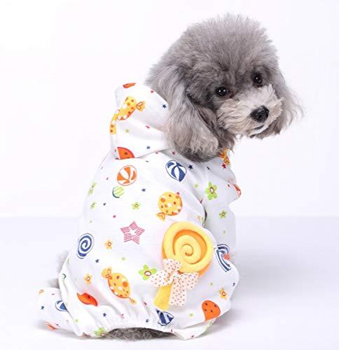 TangFeii Ropa para Mascotas, Perros y Gatos, Jirafa, Caramelos, Ropa para Mascotas, Pijamas para el Servicio a Domicilio,...