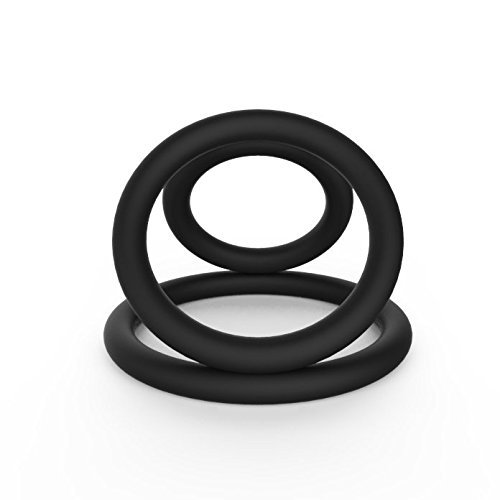 3-Cock-Ring-Set-100-Medical-Grade-Silicone-Erection-Enhancing-Penis-Rings-Adult-Sex-Toy-for-Men-Provide-Extra-Stimulation-Longer-And-Harder-Orgasms-By-Bravolink