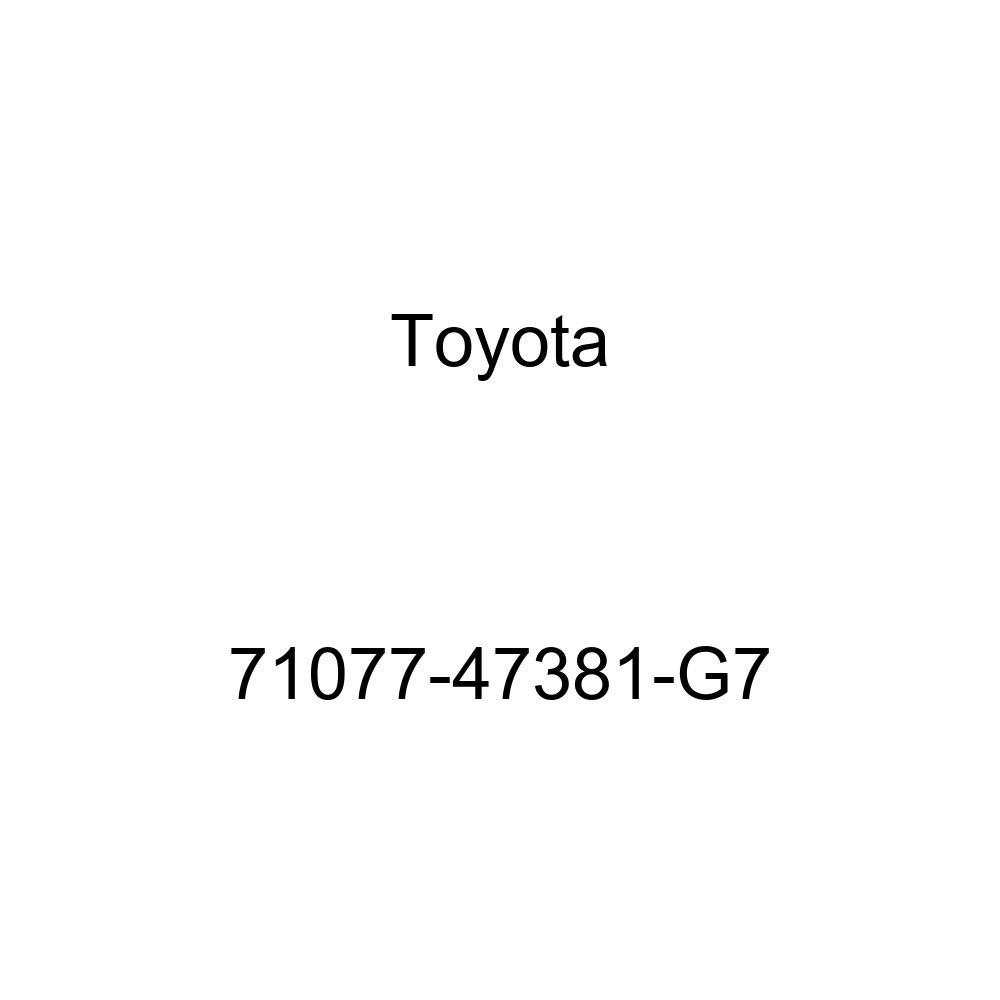 TOYOTA Genuine 71077-47381-G7 Seat Back Cover