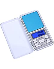 Mini Balança Digital, Display LCD Balança de Pesagem Eletrônico Balança Mini Pesador de Balanço Ouro - Prata 0.01~200g - PLP MANIA