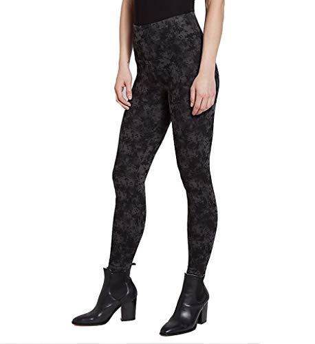 (Lyssé Women's Denim Legging, Black Tie Dye, L)