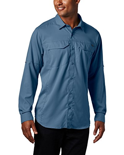 Columbia Mens Silver Ridge Lite Long Sleeve Shirt, Steel, X-Large