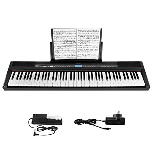 Check Out This Donner DEP-20 Beginner Digital 88 Key Full Size Weighted Keyboard, Portable Electric ...