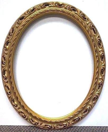 StandardPictureFrames 20 x 24 Standard Hand LEAFED Gold Venetian Oval Picture Frame Pierced (20 x 24) ()