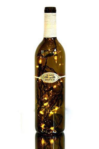 She Sparkles Lighted Wine Bottle