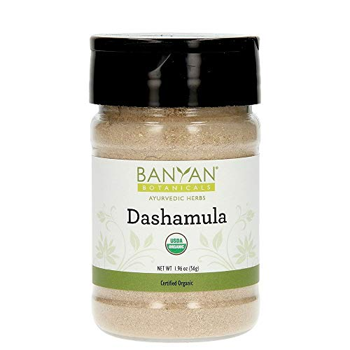 Banyan Botanicals Dashamula Powder - Certified Organic, Spice Jar - A traditional Ayurvedic formula for pacifying vata and supporting proper function of the nervous system* ()