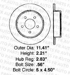 Fits:- Chrysler Dodge Front+Rear Kit 4 Cross-Drilled Disc Brake Rotors 5lug 8 Ceramic Pads High-End