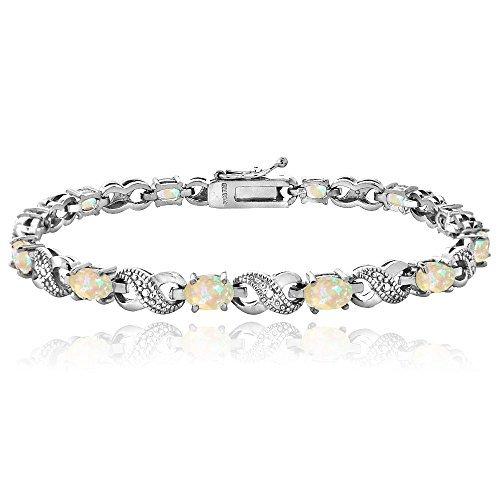 Created Gemstone Diamond Infinity Bracelet product image
