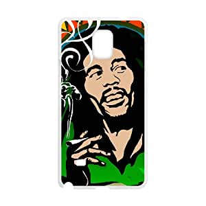 Samsung Galaxy Note 4 Cell Phone Case White Bob Marley heqw
