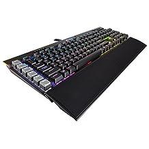 CORSAIR K95 RGB PLATINUM Mechanical Gaming Keyboard - USB Passthrough & Media Controls - Fastest Cherry MX Speed - RGB LED Backlit - Aluminum Finish