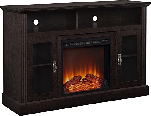 "Pinnacle Point 50"" Fireplace TV Console Espresso - Room & Joy"