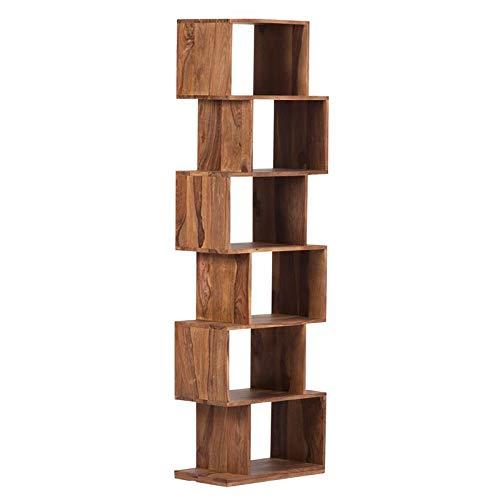Avalon Mid-Century Modern Sheesham Wood Bookshelf - 6 Shelves