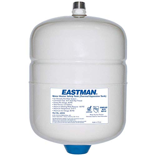 Eastman 60023 Det-12 Thermal Expansion Tank, 4.5 Gal, 3/4 In Mpt, Steel, 4.5 Gallon, White ()