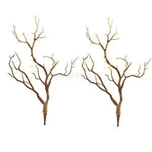 Baoblaze Set 2PCS Artificial Simulation Tree Branch Branches Home Garden Decoration 17