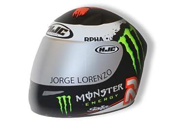 HJC miniatura Moto Casco Hucha/Coin Saver – Lorenzo Monster Energy Diseño