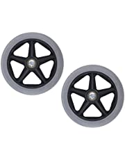 dailymall Pack of 2 Wheelchair Walker Replacement Wheels - 6 inch Front Caster Wheels with 5/16 inch Bearing