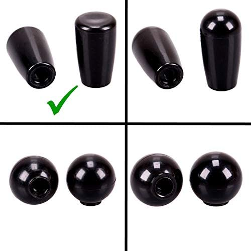 TRUCK DUCK/® Universal Replacement Knob Cone Handle 42 mm with M8 Internal Thread Plastic Ball Screw Grip Round Lever Switch Car Truck