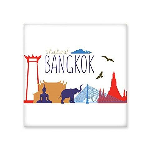 best Kingdom of Thailand Thai Traditional Customs Buddha Temple Bangkok Elephant Art Illustration Ceramic Bisque Tiles for Decorating Bathroom Decor Kitchen Ceramic Tiles Wall Tiles
