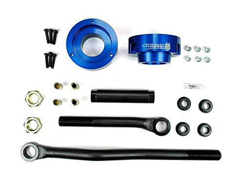 Sinister Diesel Adjustable Track Bar and Leveling Kit for Dodge Cummins 2003-2012 4WD (Blue)