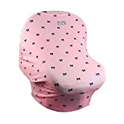 Itzy Ritzy Mom Boss 4-in-1 Multi-Use Nursing Car Seat Cover and Infinity Scarf, Bows & Babes
