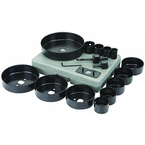 rbon Steel Hole Saw Set 18 Pc ()