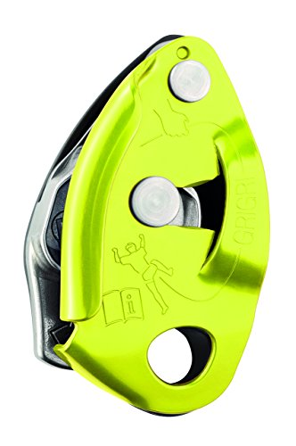 Petzl GriGri 2 Belay Device (2017) with FREE Climbing DVD ($30 Value) (Yellow)