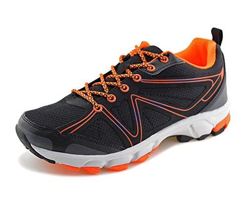 (Jabasic Men Outdoor Hiking Shoes Trail Running Sports Sneakers(12,Black/Orange) )