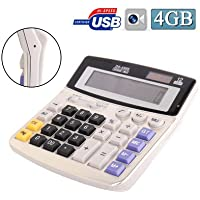 Online-Enterprises Full sized Solar powered Calculator Spy Camera (640 x 480 @ 30fps, 4GB)
