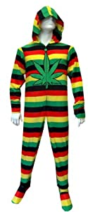 Weedman Route 420 Adult Footie Onesie Pajamas with Hood for men