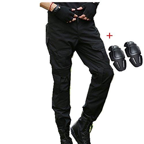 haoYK Pantalon Militaire Paintball BDU Pantalon Airsoft Pantalon Polyvalent avec genouillères 3