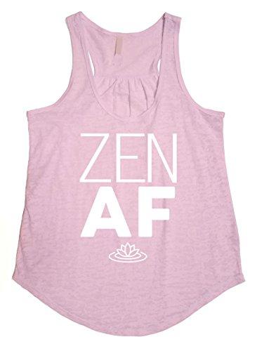 Tough Cookie's Women's Flowy Burnout Zen AF Printed Workout Tank Top (Medium, Blush Pink)